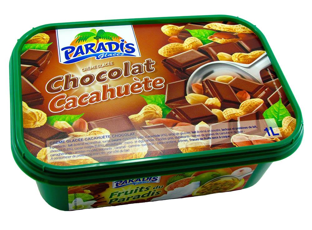 Crème Glacée Chocolat - Cacahuète