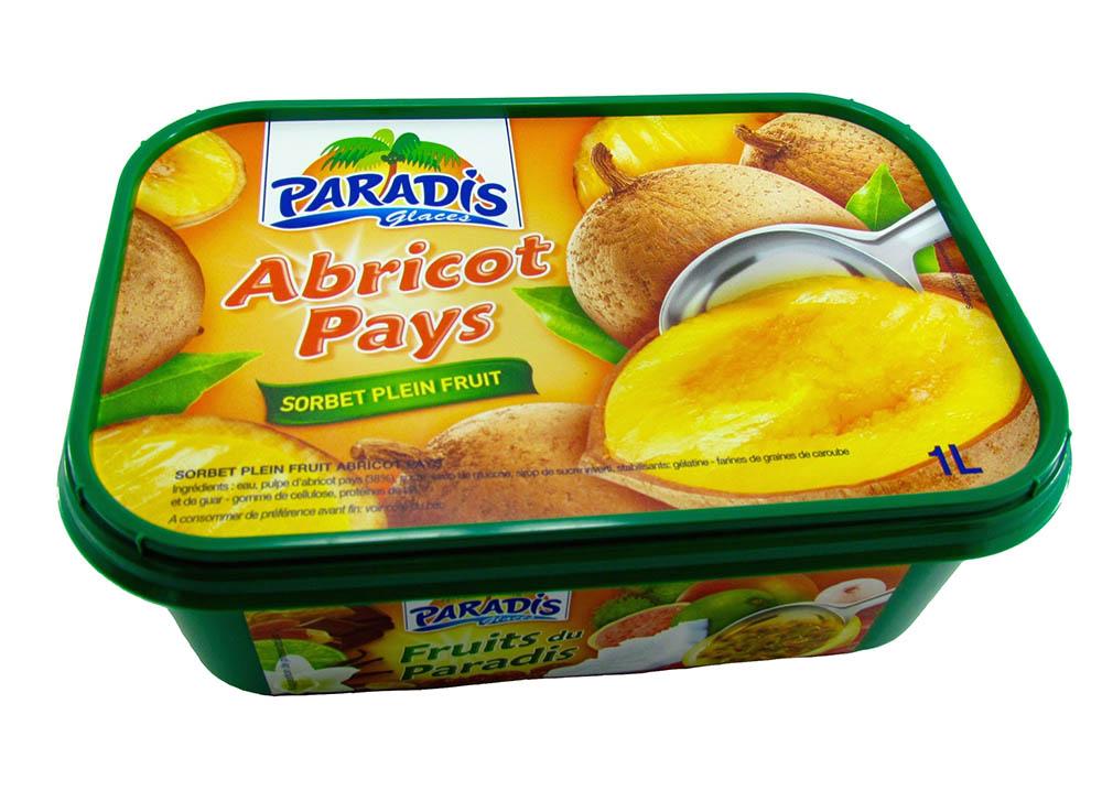 Sorbet plein fruit Abricot Pays
